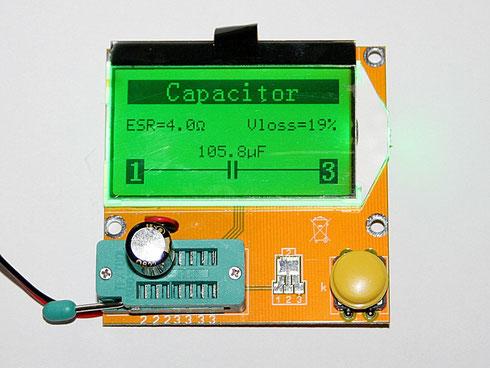 Elektrolytkondensator in ESR-Messgerät