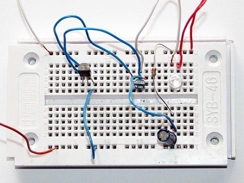 Testaufbau des LED-Blitzer