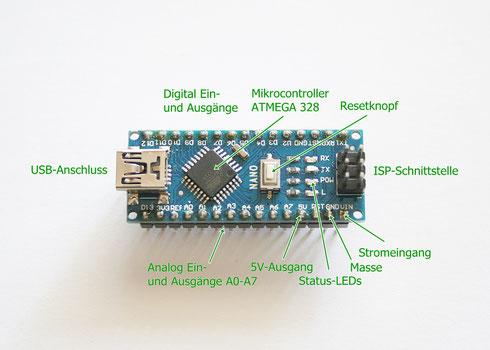 Aufbau eines Arduino Nano