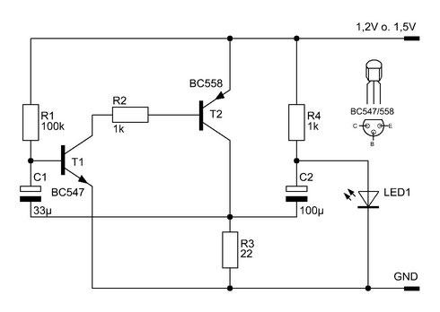 LED-Spannungswandler mit Kondensatoren
