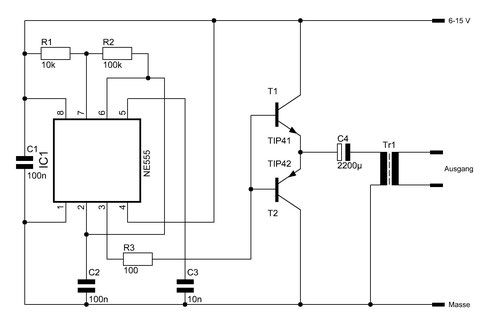 spannungswandler wechselrichter elektronische basteleien. Black Bedroom Furniture Sets. Home Design Ideas