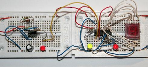 Zählerschaltung mit LED-Display