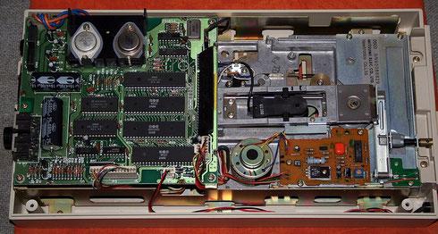 Das Innere des Commodore 1541-Floppylaufwerks