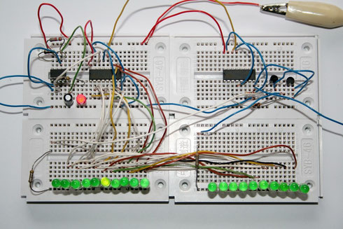 Testaufbau des 20-fach-Lauflichts