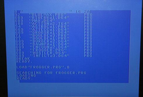 C64-Bildschirm mit Diskdirectory