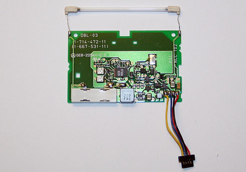 Inverterplatine aus einem Camcorder mit Leuchtstoffröhre