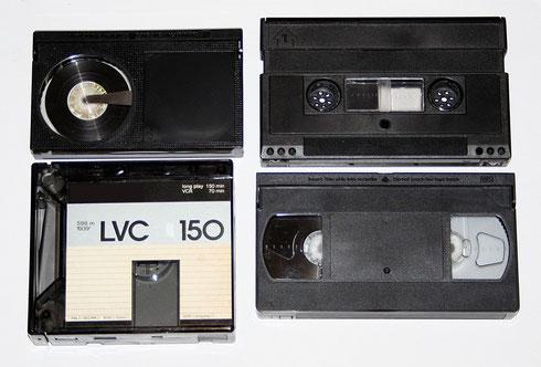Betamax, Video 2000, VCR und VHS-Videokassette