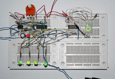 BCD-Zählerschaltung mit LED-Display
