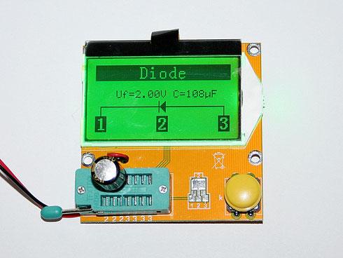 Elektrolytkondensator im ESR-Testgerät