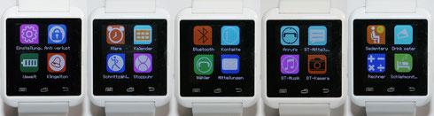 Menüübersicht der Smartwatch