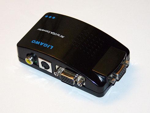 AV to VGA Converter Anschlüsse