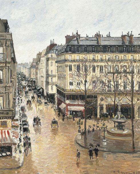 Camille Pisarro.Rue Saint Honoré por la tarde, efecto de lluvia 1897