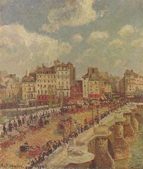 C.Pisarro.Pont Neuf 1902.Óleo sobre lienzo 55x46cm.Budapest.