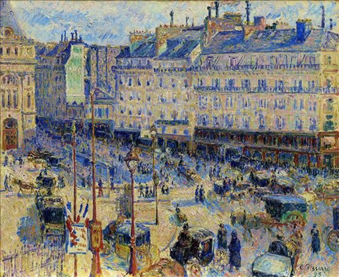 La place de Havre, Paris 1893.Óleo sobre lienzo,60x73cm.The Art Institute of Chicago, Potter Palmer collection.