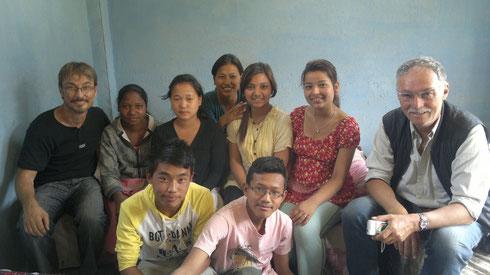 Les jeunes de Bhaktapur