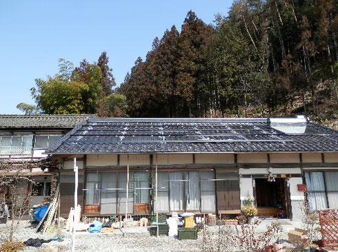 太陽光発電工事 架台取付