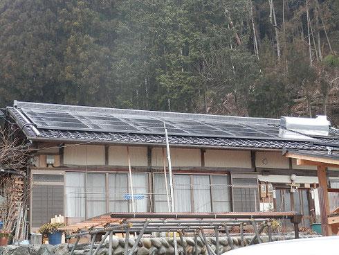太陽光発電工事 モジュール設置