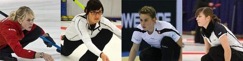 Neues Team: Melanie Barbezat, Carole Howald, Jenny Perret und Daniela Rupp (CC Touring Biel)