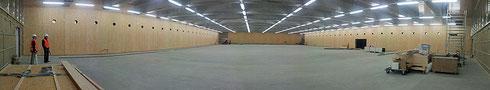 Panorama-Aufnahme der neuen Curlinghalle Biel (Foto: Roland Tock, 27. April 2015)