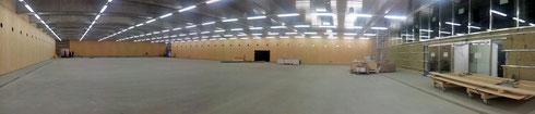 Panorama-Ansicht der neuen Curlinghalle Biel (Foto: Roland Tock)