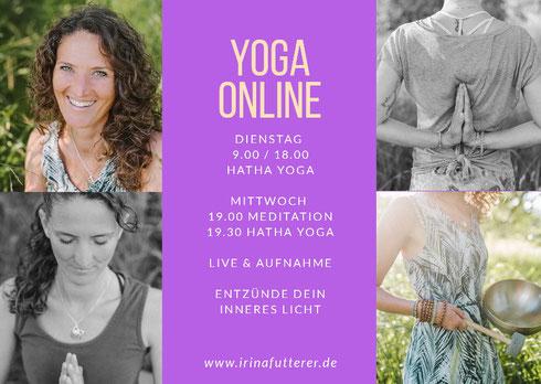 Online Yoga mit Irina