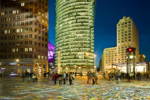 Lichtinstallation am Potsdamer Platz
