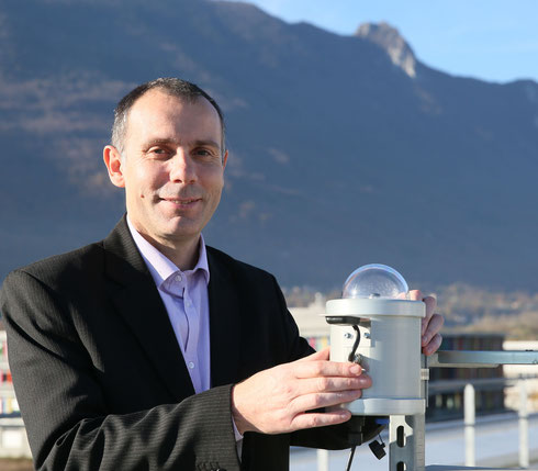 Xavier Le Pivert, CEO of STEADYSUN, with Sky Imager