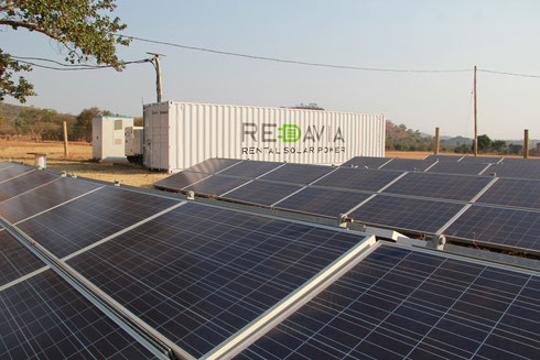 Redavia mini-grid with 87.3kWp solar and 60kW/137kWh lithium-ion battery at Shitunguru village, Tanzania - approved for media publication with source: Redavia GmbH
