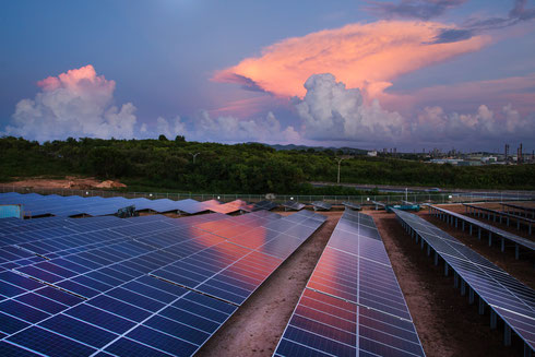 PV plant on an island -  approved for media publication with source: NRG
