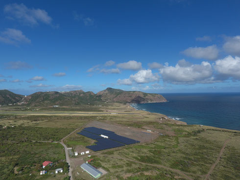 PV-Battery Diesel Hybrid Plant on Sint Eustatius (c) SMA Sunbelt