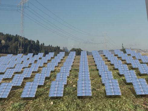 Beispiel für Solar-Park mit HeliosLite Trackern - (c) HeliosLite SAS