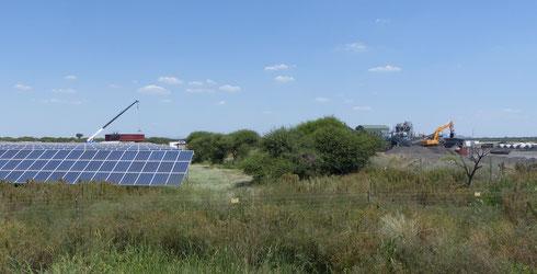 Solar-Diesel-Hybrid Anlage im südlichen Afrika - (c) THEnergy