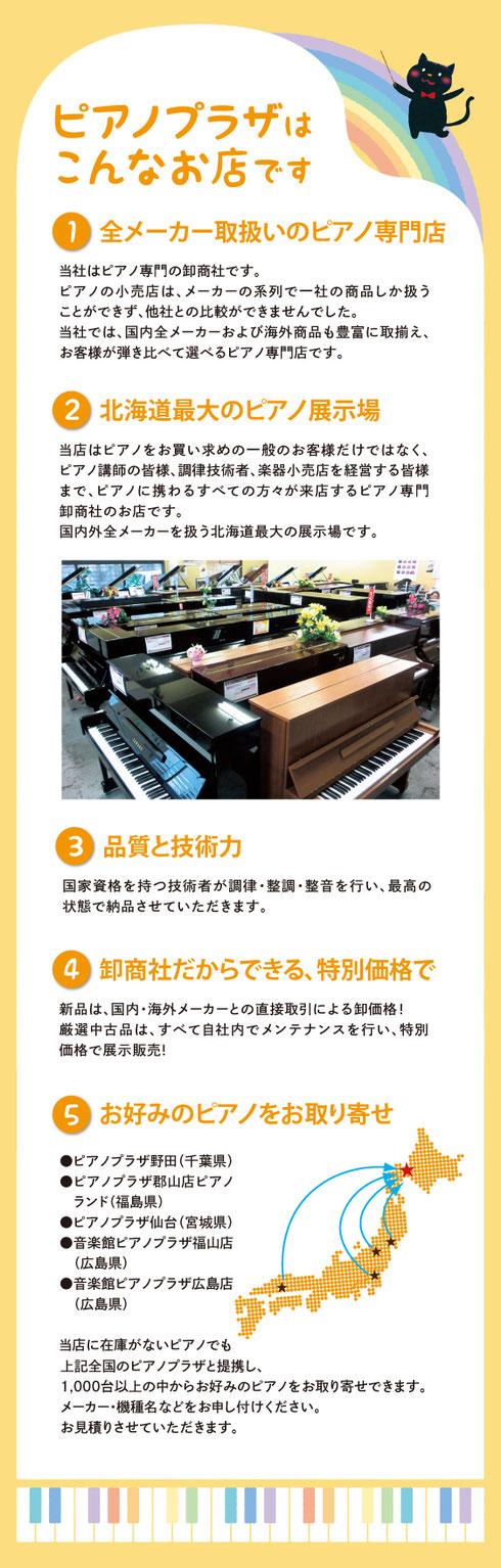 ピアノプラザはこんなお店