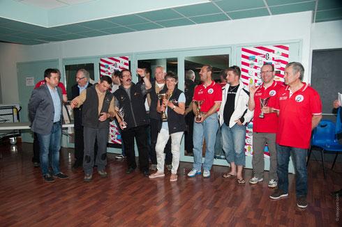 Vainqueurs du tournoi LES CONTAMINES OP'TRAKEN, 2EME GENEVE LULLY, 3EME VALENCE