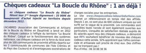 Article du Nord Isère Economie - Septembre 2013