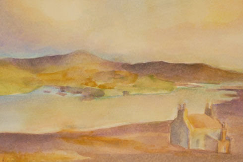 Ruin of a crofter's house (Isle of Harris, sold) 26.5cmx32.5cm