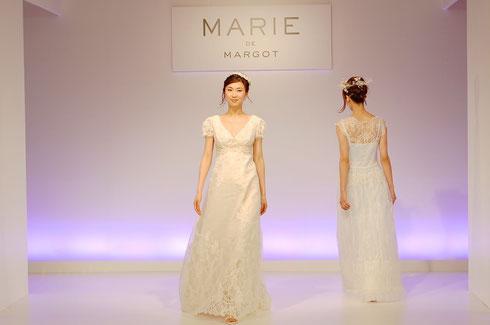 着心地の良いジャージー素材やイタリアンシフォンを使用した、上品でゆったりとした大人スタイルのドレスブランド「マリー・ド・マルゴー」