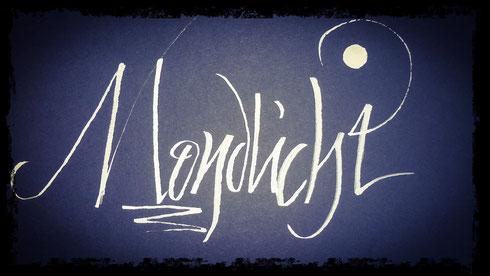 supermoon calligraphy moonlight