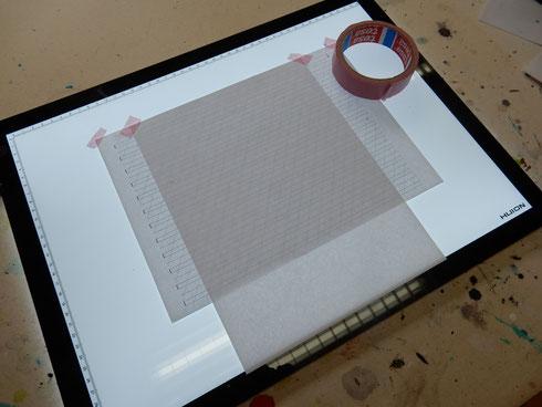 Linienblatt und 100g/m2 Papier