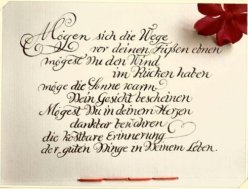 Kalligrafische Handschrift