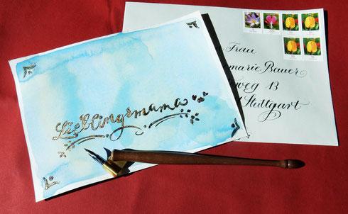 Modern Calligraphy: Muttertagskarte