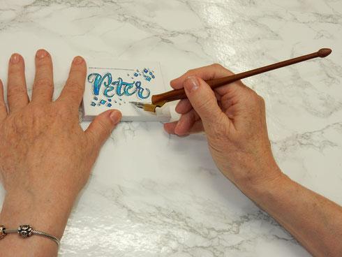 HAND Lettering mit Schrift und Kunst