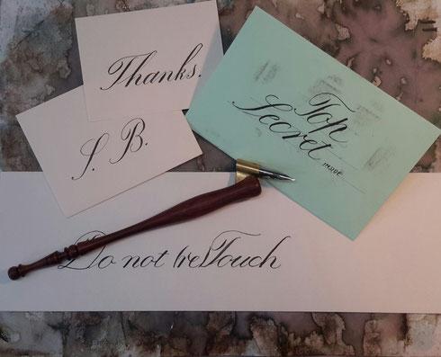 Copperplate Practicing Englische Schreibschrift Übungen Spitzfeder Schönschrift