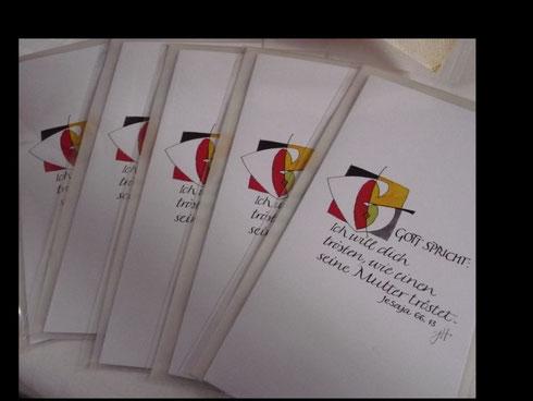 Foto: Ilona Wahl; Kartenverkauf zugunsten der Gemeindehausrenovierung (J.Hester)