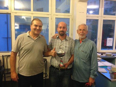 Das Sieger Trio: v.l. Nadir Paulovic, Bezhat Cetin, Dragan Kovacevic