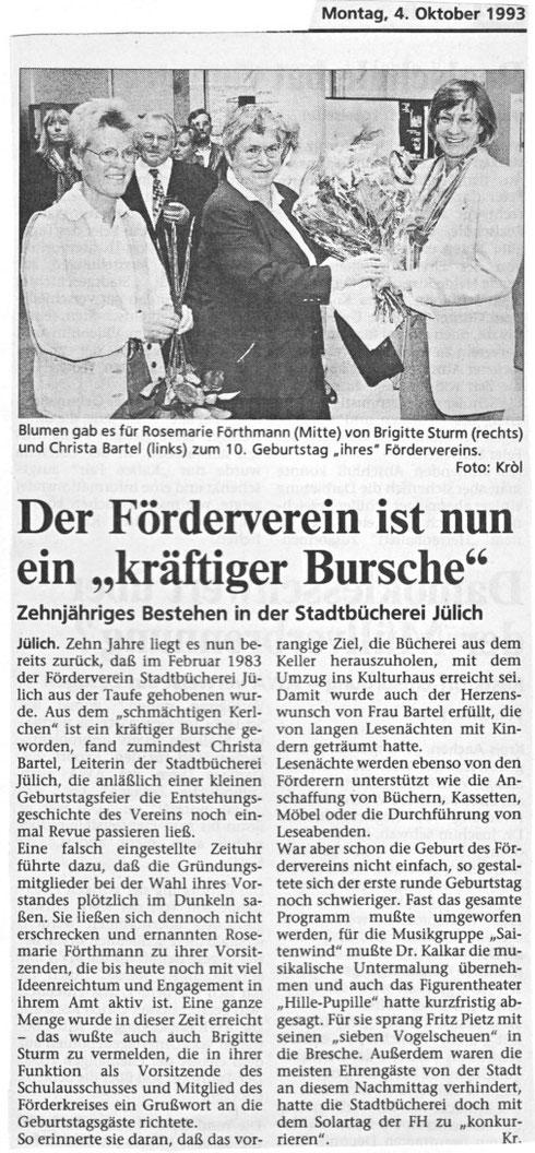 Jülicher Woche vom 4. Oktober 1993