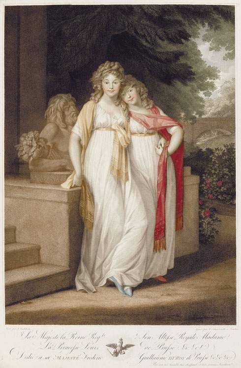 メクレンブルク公女ルイーゼとフリーデリーケ、ティシュバイン、1796年、イギリス、ロイヤル・コレクション