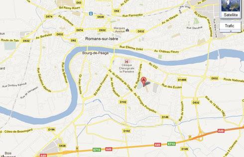 Le TCBDP se trouve au 1er de l'avenue de la 1ère Armée, 26300, Bourg-de-Péage.