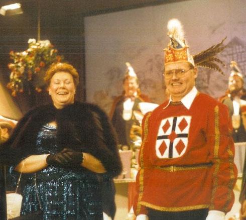 1986 Prinz Heinz Schrewe III. Prinzessin Monika Schrewe II.