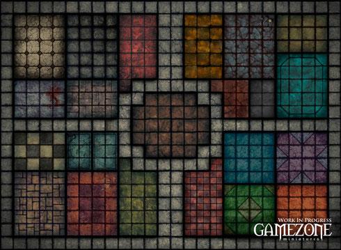 Plateau Héroquest             25ème anniversaire GAMEZONE, le jeu n'est toujours pas sorti...